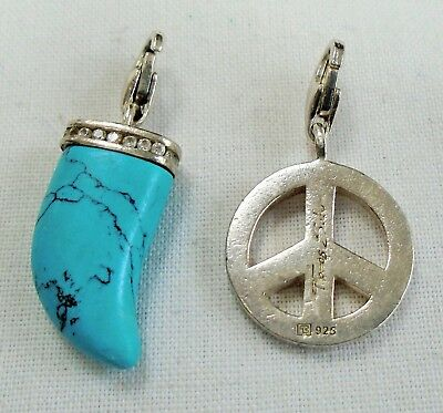 Two vintage sterling silver charms/pendants (Thomas Sabo, turquoise)