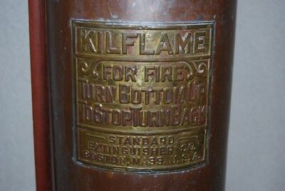 Vintage Kilflame Fire Extinguisher, Copper/Brass 2 1/2 Gallon...