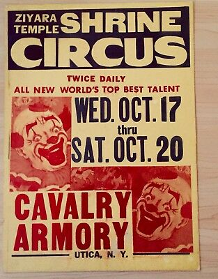 Vintage looking  Antique Rare Shrine Circus Poster