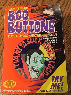 Trendmasters Electronic Boo Buttons Sound Effects Dracula Vampire