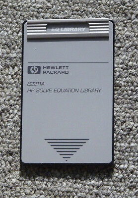 HP48sx calculator HP Solve Equation Library Application Card with book, HP82211A