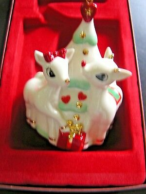 Lenox Rudolph with Clarice Ornament 2003 Original Box