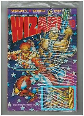 Wizard # 10 Comic Guide In Plastic Wrap With Youngblood Promo Card 2018 Sale
