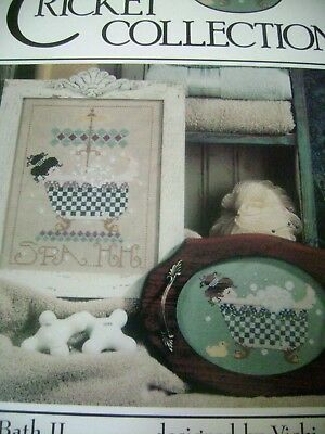 Cross Stitch Pattern Chart Bed & Bath II Cricket Collection