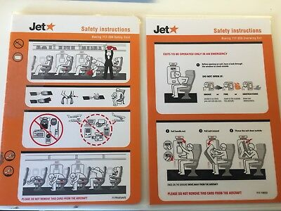Jetstar Airways Boeing 717-200 Safety Card & Overwing Guide