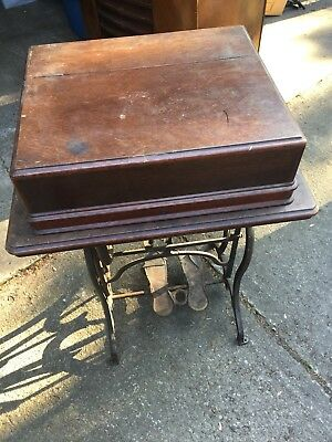 Antique Wheeler & Wilson () Treadle Sewing Machine Wood Case And Base Only