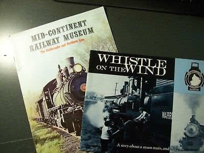 Mid-Continent Railway Museum - Equipment & Excursion Booklets - Lot Of 2 Pc