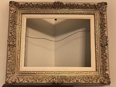 LOVELY Antique Gold Gilt Gesso Wooden Picture Frame Vintage Home Wall Art