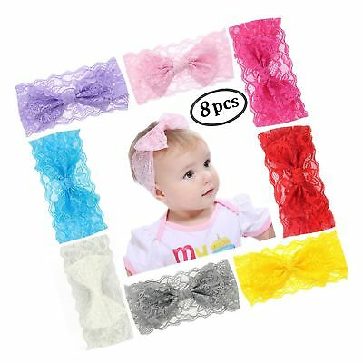 Zapire Lace Bow Headband for Baby Girl Beautiful Kid Hair Accessories - Soft