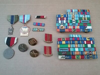US military service ribbons WWII.. and WW2 & Korean bars & leaf compilation