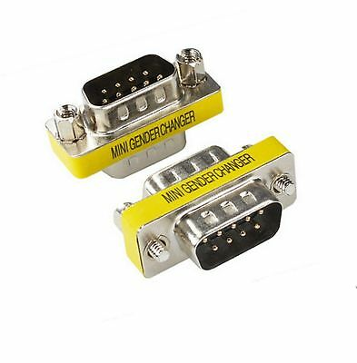 DB9pin Male~Female Null Modem Cross//Nul Serial RS232cable gender changer Adapter