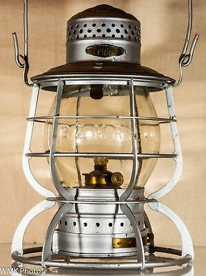 Boston and Maine 5 3/8 inch Brakeman's Lantern with Clear Cast Globe