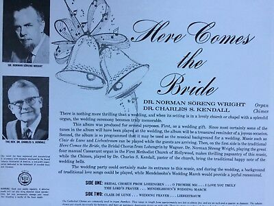 HERE COMES THE BRIDE Dr. Norman S. Wright & Dr. Charles S. Kendall vinyl LP NM/M