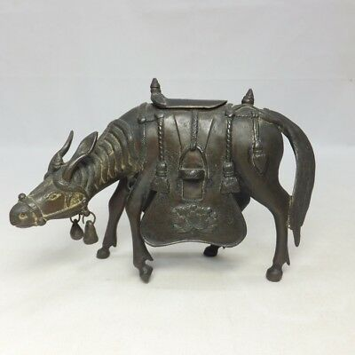 E975: Japanese incense burner of horse statue of old copper with very good work