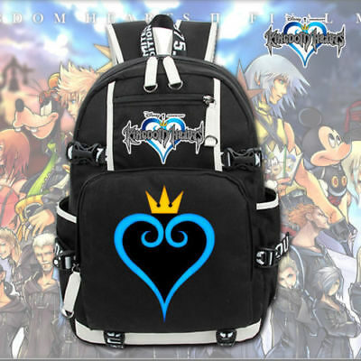 38588df4e33 Kingdom Hearts Laptop Backpack Shoulders Travel Bags Cosplay School Leisure  Bags