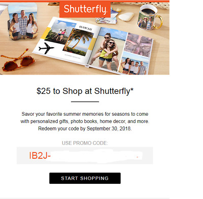 IBOTTA SHUTTERFLY $25 off $25 or more coupon with code begin IB2J, exp  9/30/2018