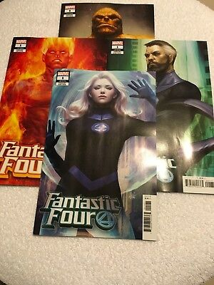 Fantastic Four #1 Nm 9.4 Artgerm Variant 4 Cover Set