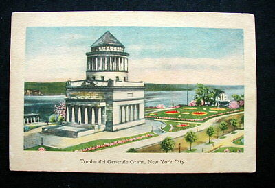 1920s Italy RARE YMCA postcard NEW YORK General Grant's grave