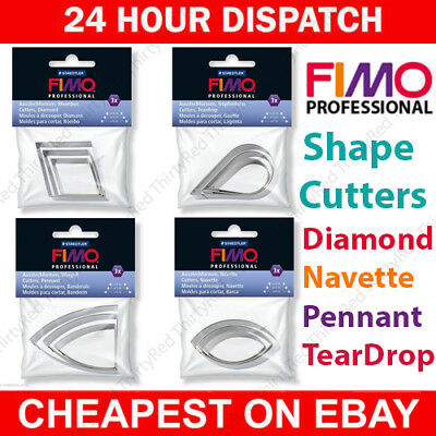 Fimo Professional Modelling Shape Cutter Tools  Polymer Moulding Oven Bake Clay