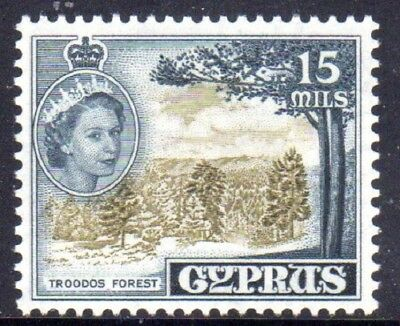 1955-60 CYPRUS 15m Troodos Forest SG177 mint unhinged