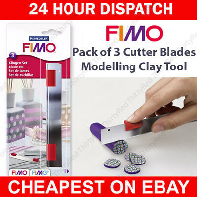 Staedtler 8700 14 FIMO Pack of 3 Cutter Blades - Crafts, Modelling, Clay Tools