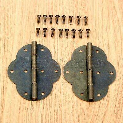 2pcs Classic Bronze Cabinet Bin Wardrobe Hinges Jewelry Chest Wine Box Hinges