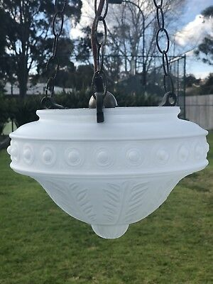 Vintage Look Frosted Glass Pendant Light