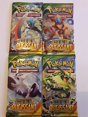 4 boosters pokemon XY CIEL RUGISSANT FR