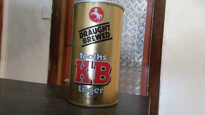 vintage tooths KB lager 740ml  tin beer can