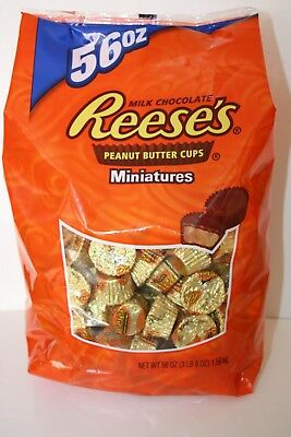 Reese's Milk Chocolate Peanut Butter Cups Miniatures 1.13kg Bulk Bag