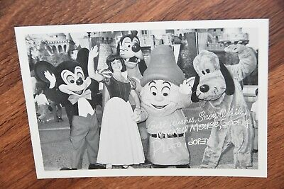 1976 Disneyland America On Parade info photo postcard picture Mickey Dopey Pluto