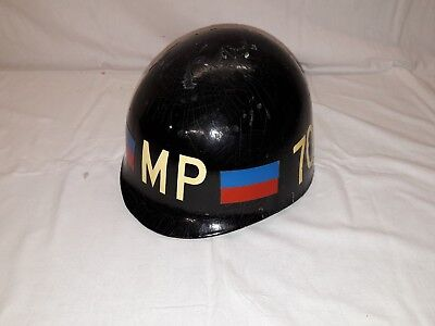 Original US Cold War Ära MP Helm / Liner des 709th MP BN - V Corps, RARITÄT !!!