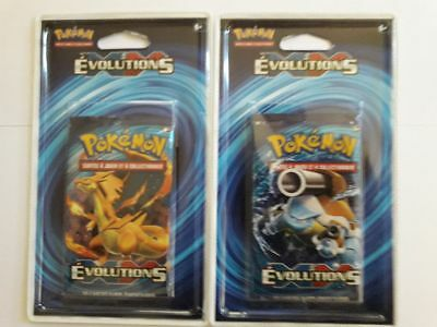 2 boosters pokemon XY ÉVOLUTIONS sous blister FR