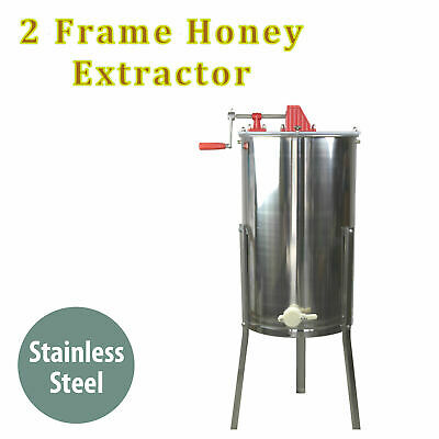 Honey Extractor 2 Two Frame Manual Crank Honey Bee Spinner Tangential Beekeeping