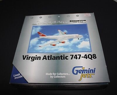 GEMINI Jets 1:400 Scale NEW Virgin Atlantic 747-4Q8 Limited Edition