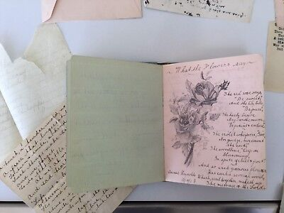 Autograph Book - From 1908 - 1910 - Antique Plus Loose Papers - Verse & Drawings