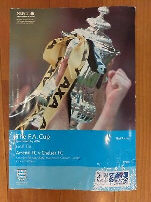 Arsenal v Chelsea FA Cup Final 2002 March Programme