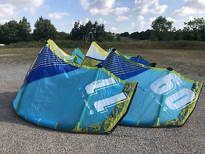 2x Liquid Force 2017/2018 Hifi X Kite Set 9qm + 11qm + Bar + Bag Kitesurfen