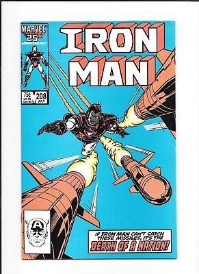 Iron Man #208 Decent (8.0) Marvel