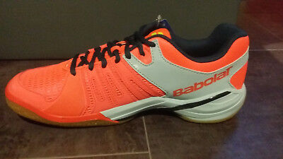 Chaussures Badminton Babolat Spirit Men Gris Rouge