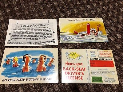 4 X Vintage Post Cards  Usa