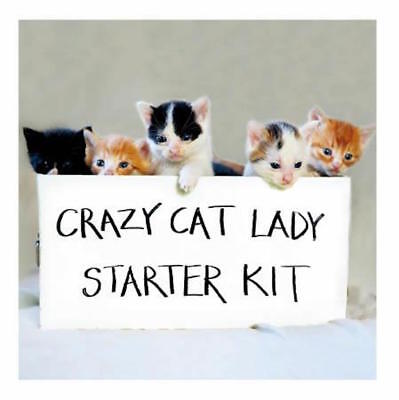 Crazy Cat Lady Funny Cat Greeting Card Humorous Birthday Greetings Cards Kittens