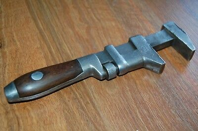 Vintage Restored Antique Coes Wrench Co Massachusetts USA Wood Handle 1900's