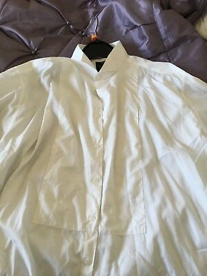 Mens Formal / Dress White Shirt M&S Luxury Collection 17.5 Collar