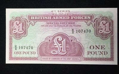 4th Series British Armed Forces 1 Pound Note-Crisp Uncirculated
