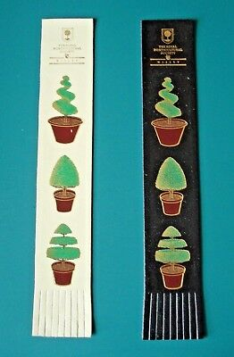 2 Leather Bookmark's - WISLEY - THE ROYAL HORTICULTURAL SOCIETY