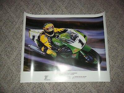 Kawasaki ZX-7 ZX-7R Scott Russell Team Muzzy Poster New Old Stock