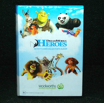 DreamWorks HEROES 42 Cards FULL SET with Collector's Album Woolworths FREE POST
