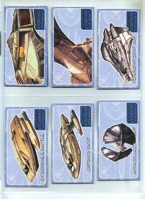 Star Trek Insurrection - Schematics 9 Card Set - The Next Generation