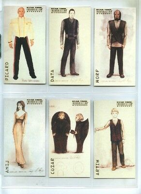 Star Trek Insurrection - Wardrobe 9 Card Set - The Next Generation